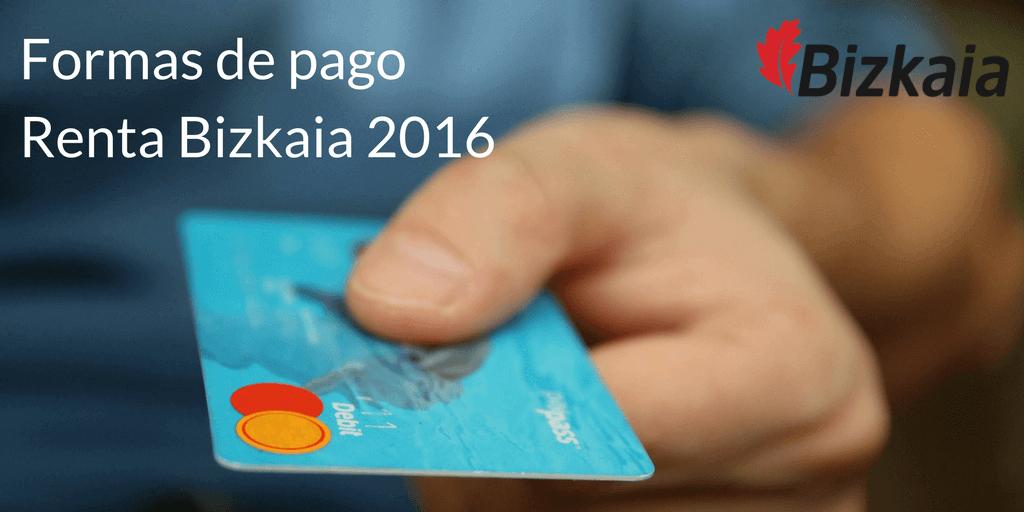 formas de pago renta bizkaia 2016